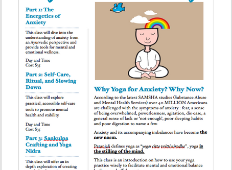 Why Yoga for Anxiety? Why Now?