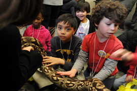 Showing some love to the exotic animals featured at our B.R.A.IN KIDS event