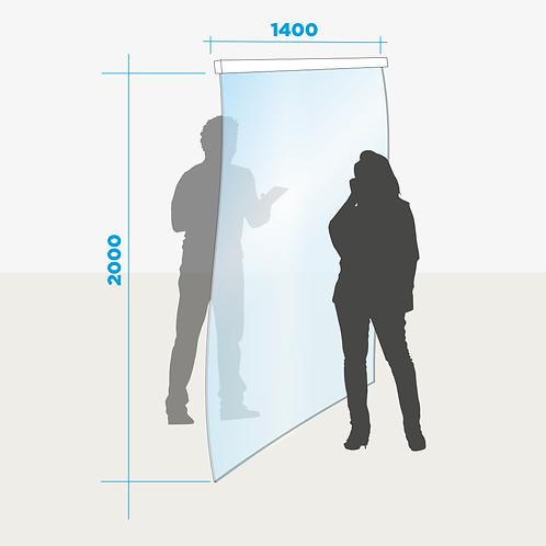 Rideau de séparation largeur 1400 mm