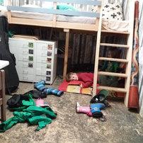 Rasten unter dem Bett