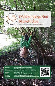 Flyer des Waldkindergarten Baumfüche