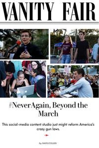 memes-man Dylan Baierlein; Lauren Hogg, David Hogg, #NeverAgain founder Cameron Kasky, Emma González