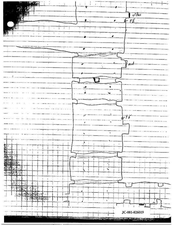 Eric Harris journal cafeteria drawing, Columbine