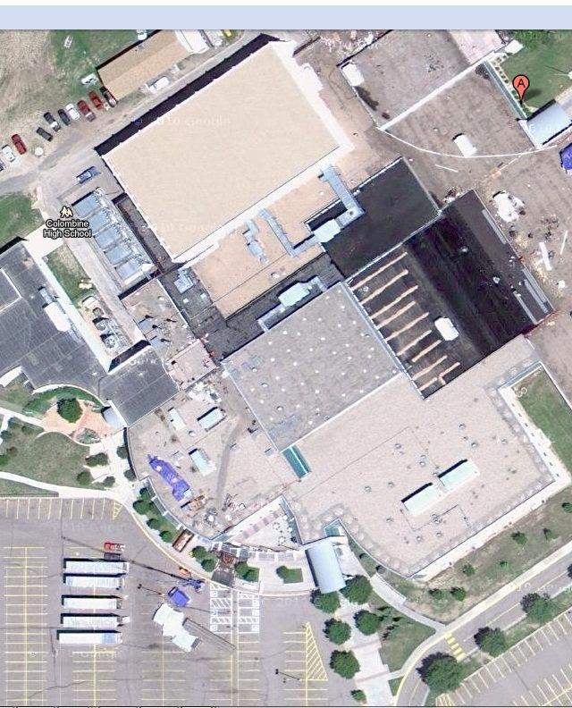 Columbine attack satellite photo April 20