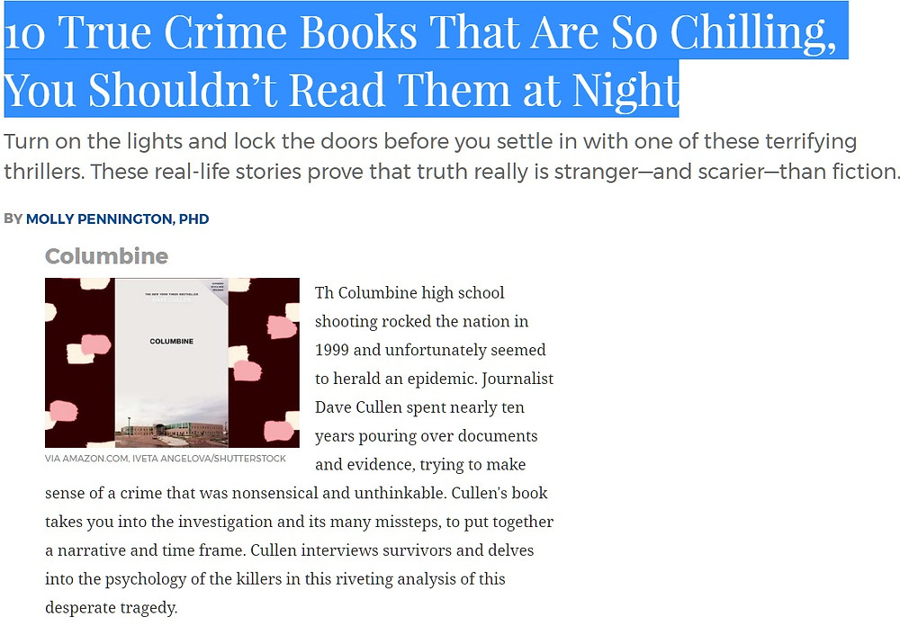 Columbine Reader's Digest True Crime Top 10 List