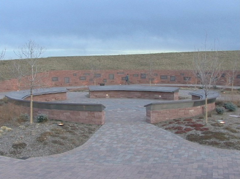 Columbine memorial tree serene sunset