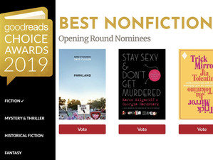 'Parkland' nominated for Goodreads Choice Award--PLEASE VOTE!