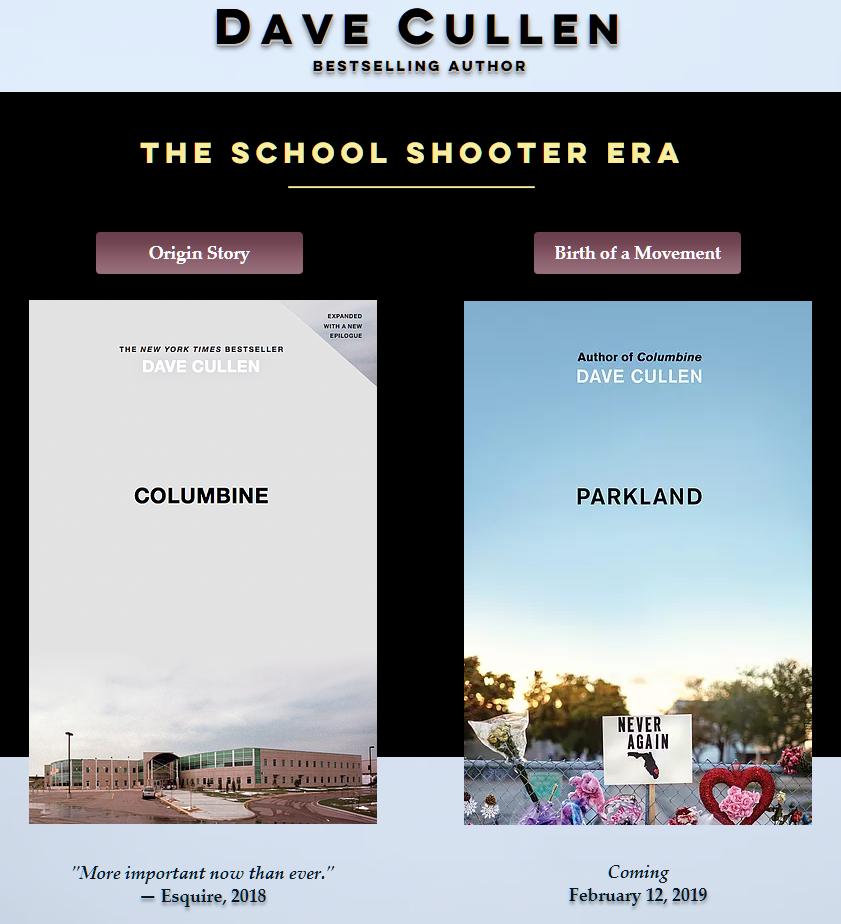 Parkland book Columbine Dave Cullen school shooter