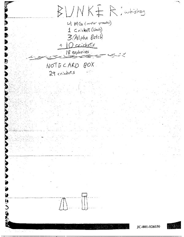 Eric Harris journal bunker, Columbine