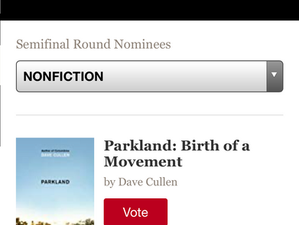 Vote for PARKLAND: semi-finals of Goodreads Choice Award