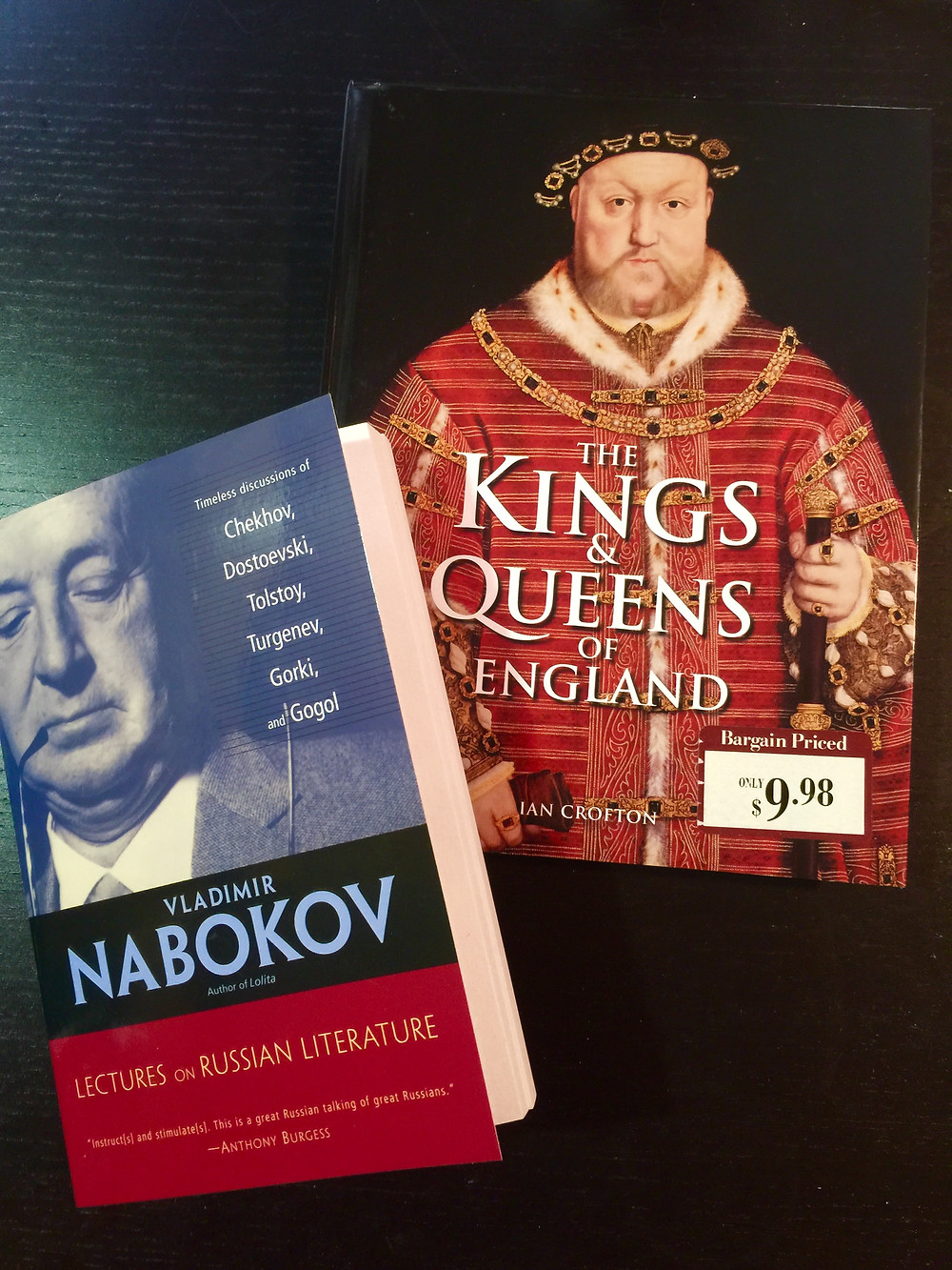 Vladimir Nabokov King Henry VIII England, Lectures on Russian Literature Tolstoy