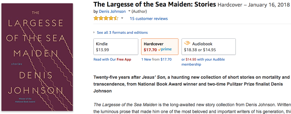 Denis Johnson The Largesse Of The Sea Maiden