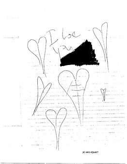Dylan Klebold journal Existences, Columbine hearts 'I Iove you'