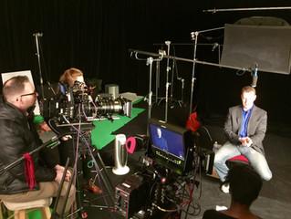 Filming the Columbine segment for CNN's The 90s