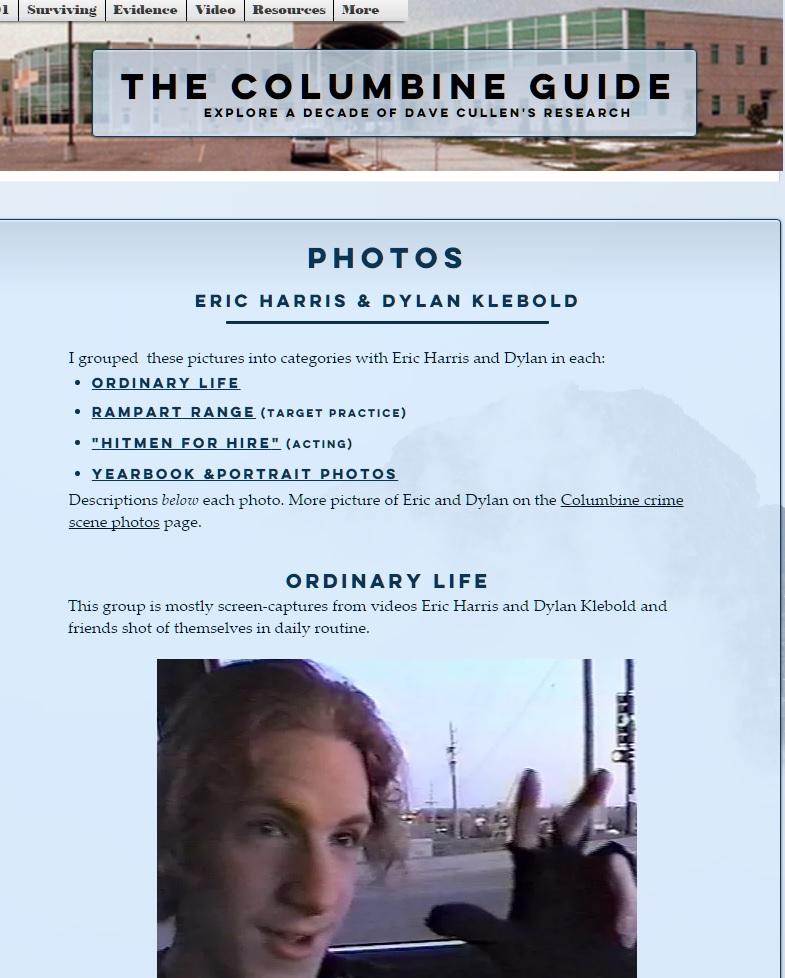 Added Columbine Guide Photos Autopsies Eric Harris Dylan
