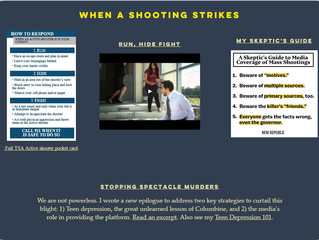 'When a shooting strikes'—added to my Columbine tools
