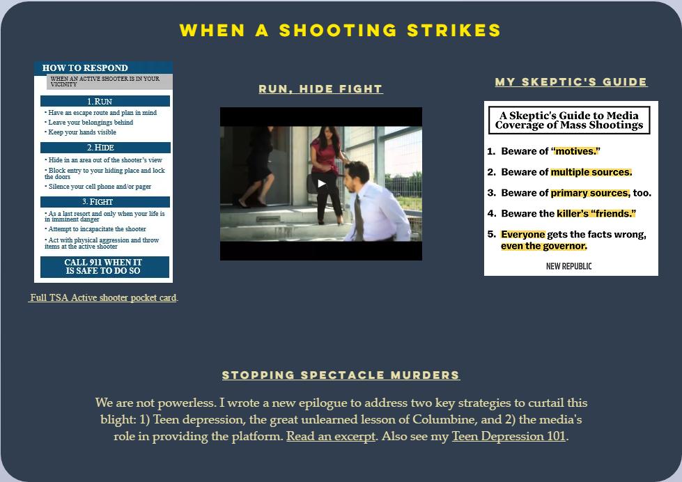 When shooting strikes--Columbine, school shootings, Dave Cullen