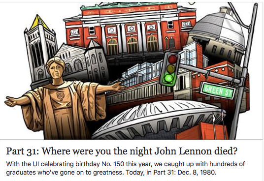 The Daily Illini, Night John Lennon died, University of Illinois, News Gazette
