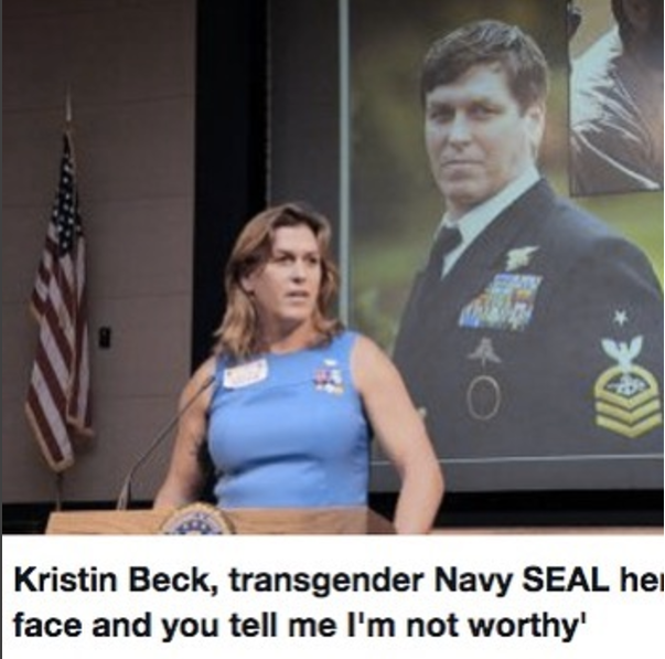 Kristn Beck transgender Navy Seal Team 6 'Not worthy'