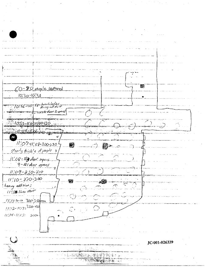 Eric Harris journal drawing: Columbine cafeteria body count