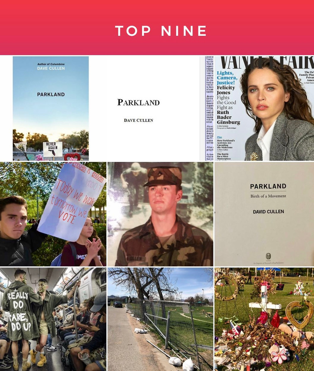 Instagram TopNine Dave Cullen Parkland David Hogg gay soldier Felicity Jones