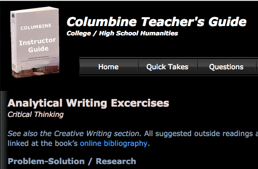 Columbine Teacher's Guide critical thinking book