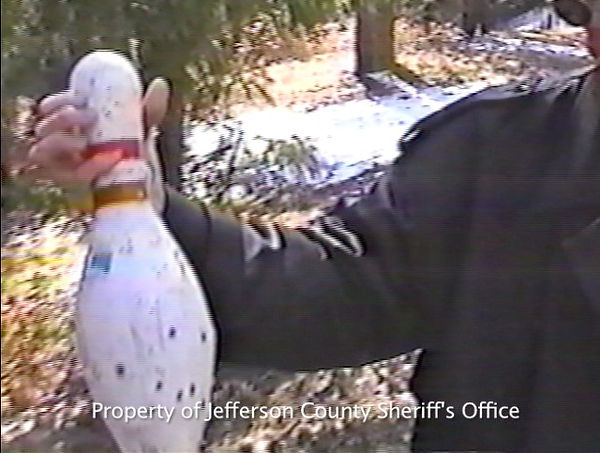 Dylan Klebold bowling pin close-up Rampart Range-Columbine
