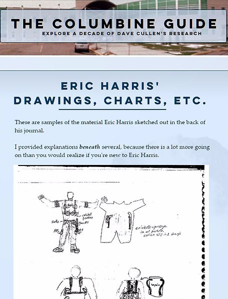 Columbine Eric Harris journal drawings, gear, Napalm, Columbine Guide, attack gear