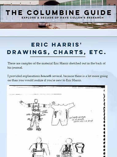 Eric Harris drawings/journal Columbine Napalm