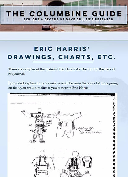 Columbine Guide: Eric Harris Drawings, sketches, gear, Napalm tank
