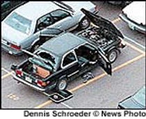Columbine propane bomb Dylan's car, explosive