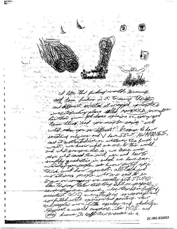 Eric Harris journal, Book of God, Columbine p.1