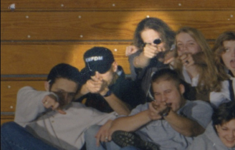 Eric Harris Dylan Klebold pretend to fire Columbine yearbook 1999
