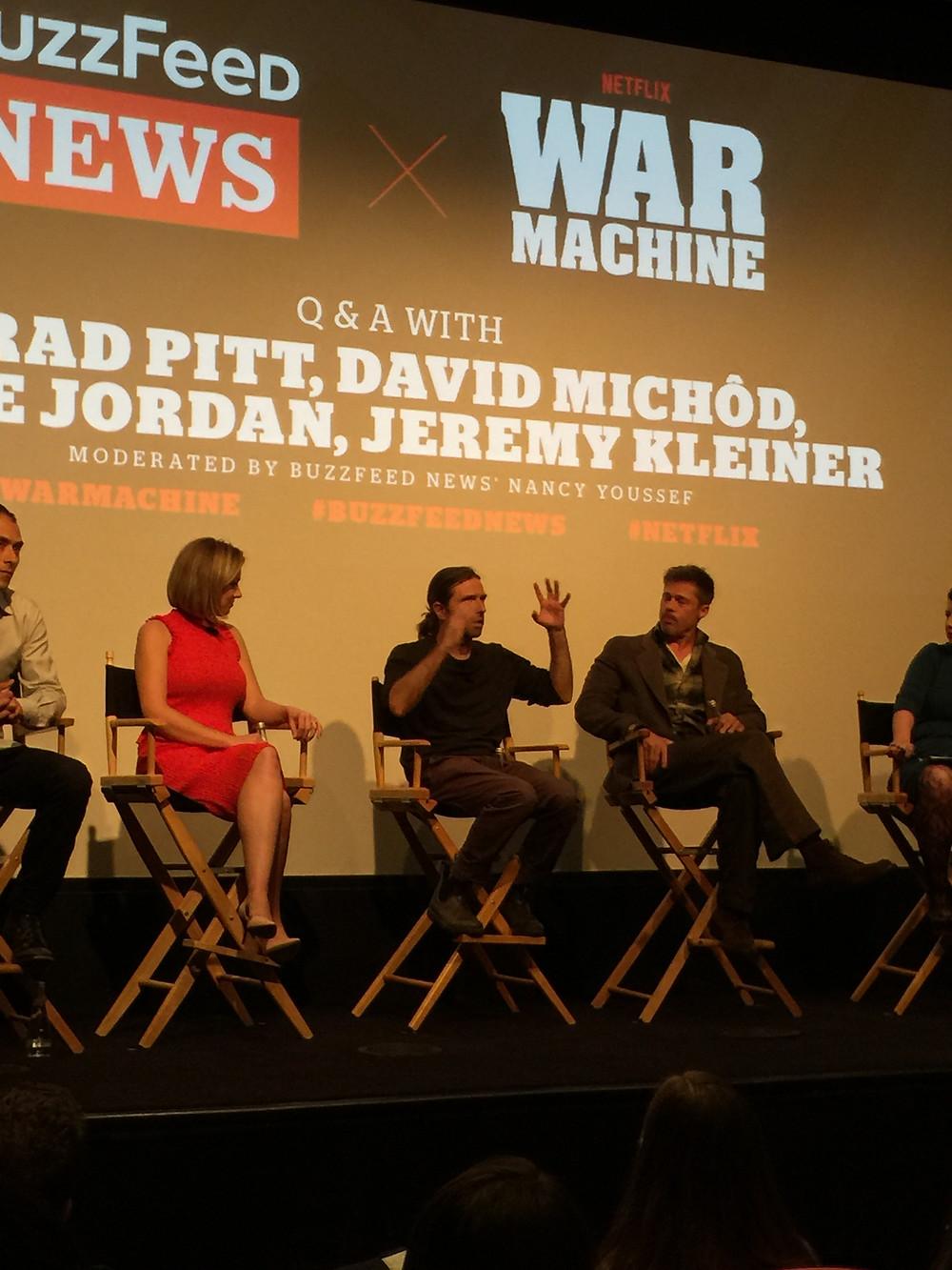David Michod, Brad Pitt War Machine, Elise Jordan Buzzfeed premiere Q&A Michael Hastings