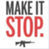 Make It Stop NeverAgain gun control assault rifle M-15 Parkland Douglas