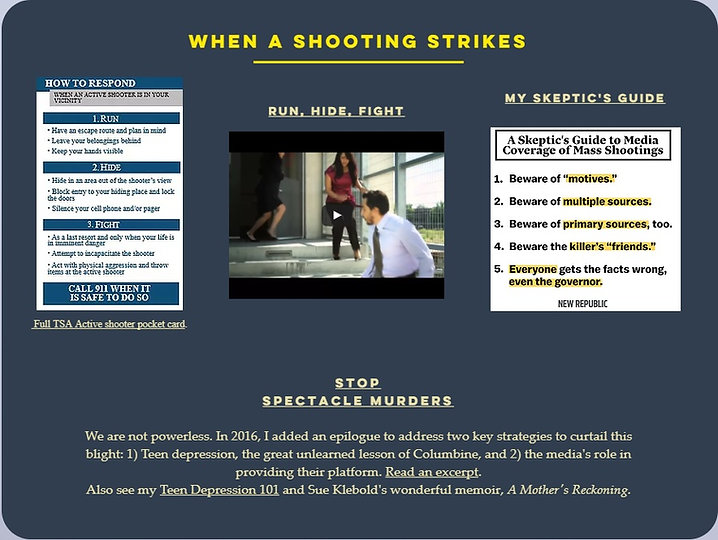 Run, Hide, Fight; Columbine, school shooting, mass murder, school shooting