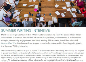 Teaching writing inVermontthis July