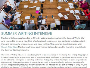 Teaching writing in Vermont this July