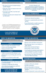 Ru, Hide, Fight TSA pocket card, mass shooter, Columbine