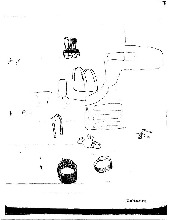Eric Harris journal drawing explosives, Columbine