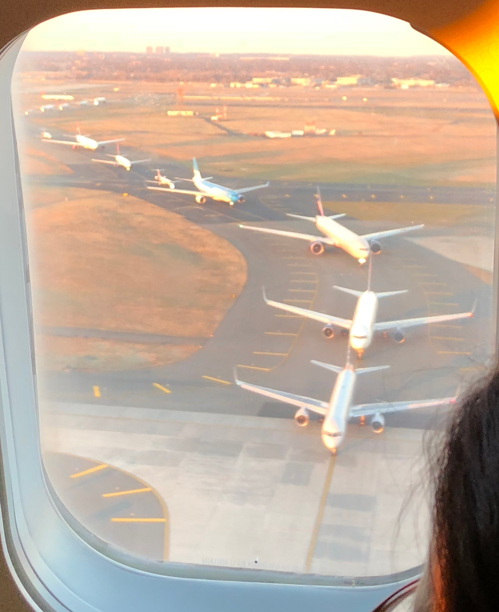 JFK sunset planes Christmas 2017