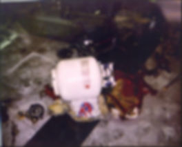 Columbine cafeteria propane bomb--duffel bag burned by Dylan's Molotov Cocktail