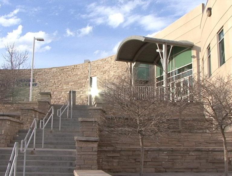 Columbine High exterior West Entrance rebuilt