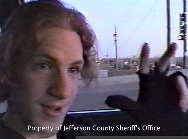 Dylan Klebold, hanging out peace sign Columbine