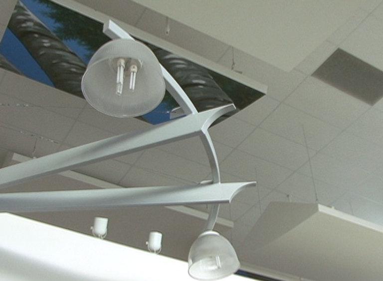 Columbine High interior cafeteria commons atrium