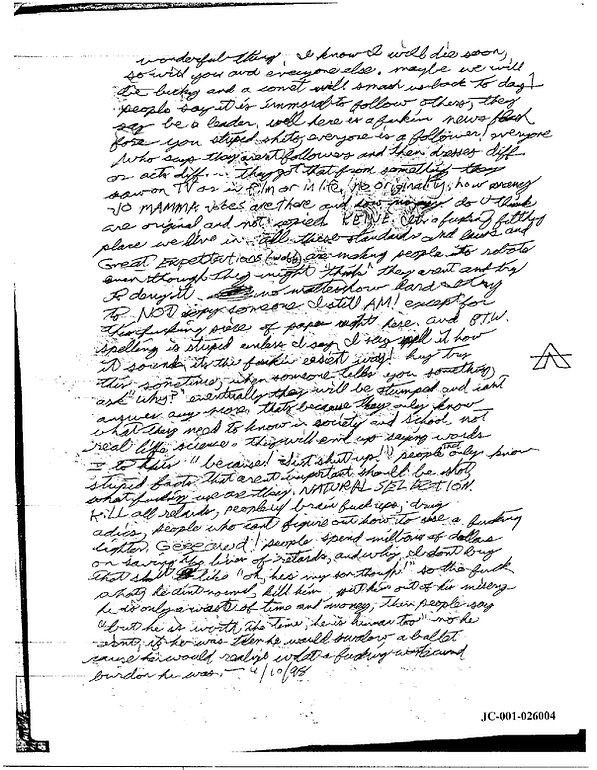 Eric Harris journal, Book of God, Columbine p.2