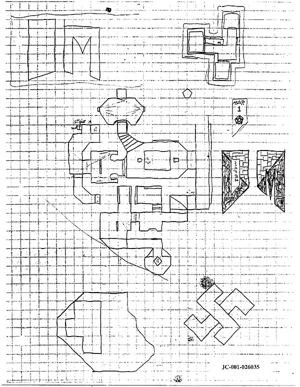 Eric Harris journal swastika drawing, Columbine
