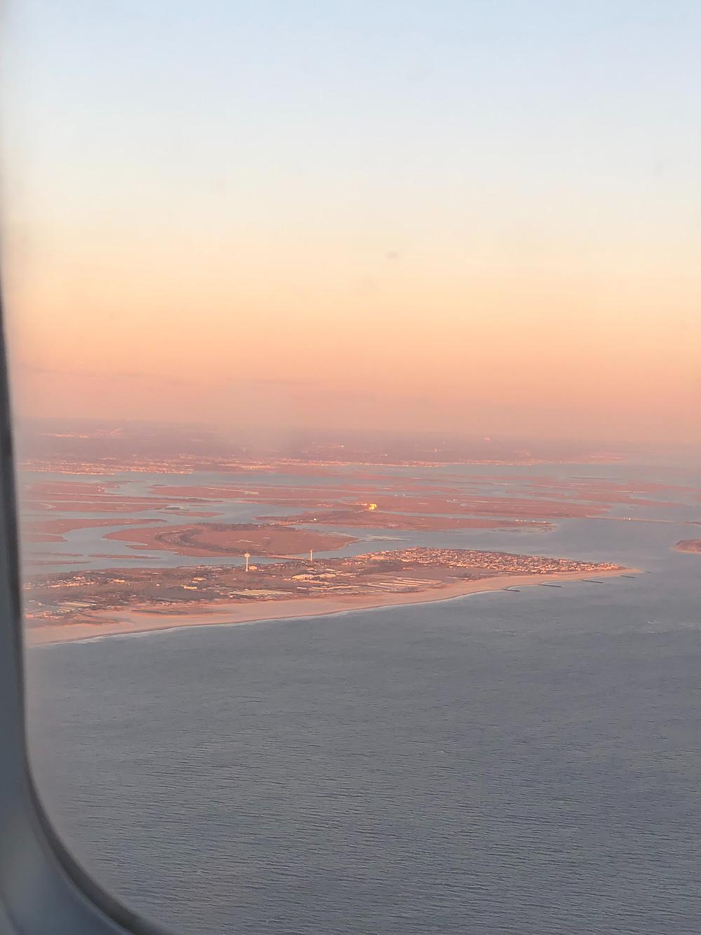 JFK sunset Far Rockaways Christmas 2017