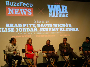 At 'War Machine' premiere, based on Michael Hastings' 'The Operators'