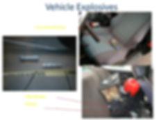 Columbine propane bomb car, explosive clock incendiary device